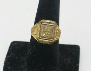 Captain Midnight Secret Compartment Ring Adjustable Brass Ovaltine Premium 1942