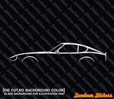 2X jdm Car silhouette stickers - for Datsun 240z / nissan s30 classic sports car