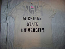 Victoria's Secret PINK Michigan State Spartans Shirt NWT Large