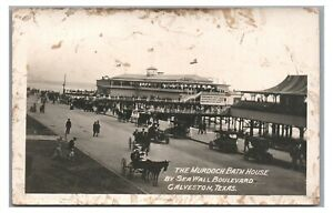 RPPC Murdoch Bath House Photo Post Cards! GALVESTON TX Texas Real Photo Postcard