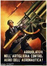 Italy world war 2 1944 propaganda Flak AntiAircraft poster