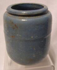 "vintage blue stoneware pottery unknown maker utility jar 3.5"""