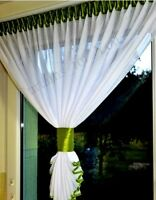 Hand Made Voile Crushed Net Curtains Small Window free P&P For You Many Colours