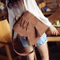 Women Vintage Bag Mochila Female Korean Stylr Tassel Backpack Lady Causal Daily