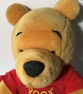 "Vintage Walt Disney Co. Winnie the Pooh Bear 16"" Stuffed Plush Collectible"
