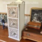 49cm Tall Wooden Timber Pigeon Hole Style Cabinet Cupboard 3 Drawer Storage