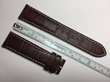 AUTHENTIC LONGINES NEW 20MM BROWN GENUINE ALLIGATOR LEATHER STRAP BAND BRACELET