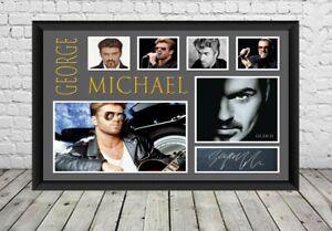 George Michael Signed Photo Poster Autographed  Memorabilia Print