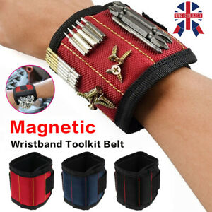 Magnetic Wrist Band Wristband Tool Tray Belt Wrist Magnetic Holding Helper UK C