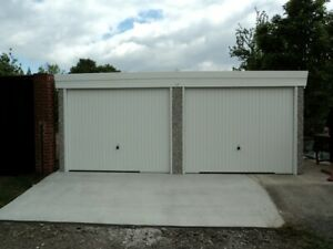 PENT ROOF DOUBLE CONCRETE GARAGE - SPECIAL OFFER PACKAGE