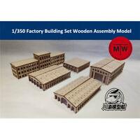 1/350 Factory Building Set Harbor Shipyard Scene DIY Wooden Assembly Model 5pcs