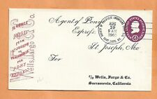 Poney Express St Joseph To Placerville Aug 19,1960 st Louis MO Vintage Housse