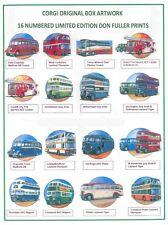 Corgi Don Fuller Prints, set of 16 limited edition vehicle prints