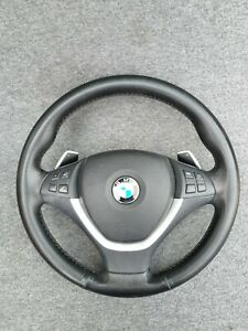Bmw E71 X6 Sport Steering Wheel Paddles Multifunction X5 e70 complete