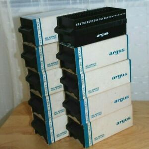 Vintage Argus 30 Capacity 35mm Slide Magazine Tray with Boxes