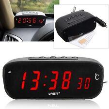 3 in 1 12V/24V LED Car Digital Alarm Clock Thermometer Temperature Meter