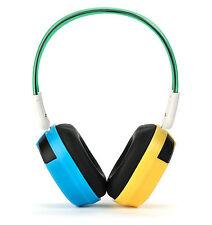 Bravo View BTS-03 - KID FRIENDLY Bluetooth Wireless Headphones (Blue/Yellow)