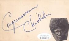 SHIRLEY CHISHOLM d 2005 Signed 3x5 Index Card Congresswomen JSA CC91318