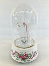 Crystal Glass Carousel Horse Domed Music Box