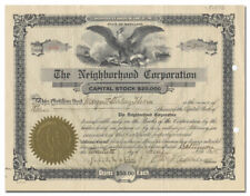 The Neighborhood Corporation Stock Certificate