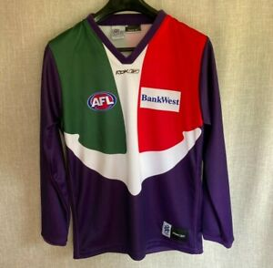 Fremantle Dockers FC vintage/retro jumper/guernsey long sleeve S/Small anchor ⚓
