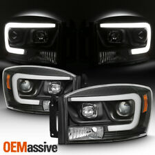 2008 Dodge RAM 1500/2500+2006-2009 Dodge RAM Black LED DRL Porjetor Headlights