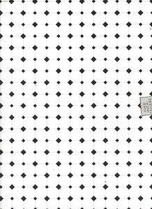 White & Black Tile paper flooring Jackson's Miniatures dollhouse 1pc JM11