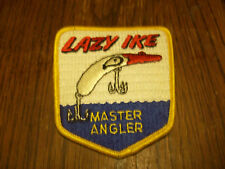VINTAGE LAZY IKE MASTER ANGLER FISHING LURE PATCH  HUNTING