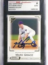 2001 Topps Fusion Mark Grace Autograph SGC Authentic #153 *60477