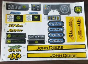 **NEW** Peg Perego John Deere Gator XUV Decal Label Set (MMEV0802)
