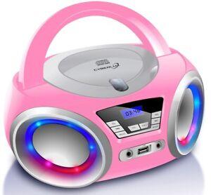 Tragbarer CD-Player Stereoanlage Kinder Radio CD-Radio Boombox Kompaktanlage