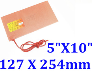 """5"""" X 10"""" 127 X 254mm 250W JSR CE UL Silicone Rubber Heating Blanket Factory Sale"""