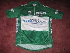 GIRO D'ITALIA TOUR OF ITALY GREEN KOM SANTINI CYCLING JERSEY [44/46 M] NOS