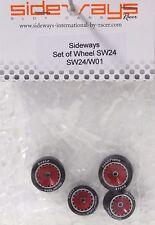 SIDEWAYS SW24/W01 PORSCHE + 3/32 ALUMINUM WHEEL SET NEW 1/32 SLOT CAR PART