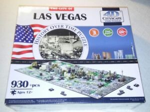 The City of Las Vegas History Over Time Puzzle 4D 930 Piece Puzzle by Cityscape