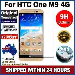 HTC One M9 Premium Tempered Glass Screen Protector Film Guard