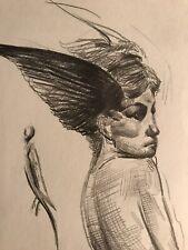 Pencil  Drawing- 4x6 Original Fine Art- By Osmel Almora-Signed