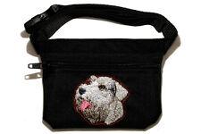 Embroidered Dog treat pouch/bag. Breed - Sealyham Terrier