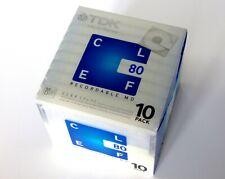 New/Factory Sealed.  TDK Clef - 1 x 10 pack blank minidisc.