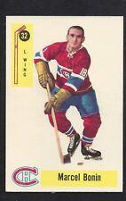 1958 Parkhurst #32 Marcel Bonin, Canadiens Vintage NHL Hockey 1958-59