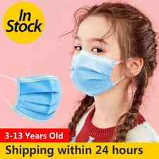 50 PCS kids child children face mask disposable non medical