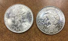 1968 MEXICO  25 Pesos Olympic Coin  22.5 gr. .720 SILVER 1  BU coin