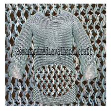 Chainmail 10 mm round riveted with soiled ring hubergion half sleeve shirt large