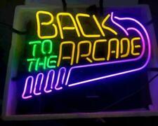 "Back To The Arcade Neon Light Lamp Sign 24""x20"" Beer Bar Artwork Windows Open"