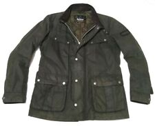 SUPERB £225 BARBOUR INTERNATIONAL WAX JACKET - MED - VGC - STEVE MCQUEEN BIKER