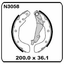 Holden Barina TK 1.6L 2005-2011 REAR Drum Brake Shoe SET N3058