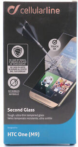 Cellularline Second Glas HTC One (M9) Display Schutz 9H Hartglas Cover Klar 595