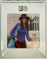 NOS Carly Simon No Secrets 8 Track Stereo Tape Elektra SEALED You're So Vain