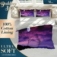 Purple Moon Nature Colourful Duvet Cover Sets Single Double Queen King Size