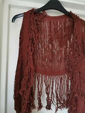 Caravana Yaax Col Knitted Top Cotton Burgundy One size.